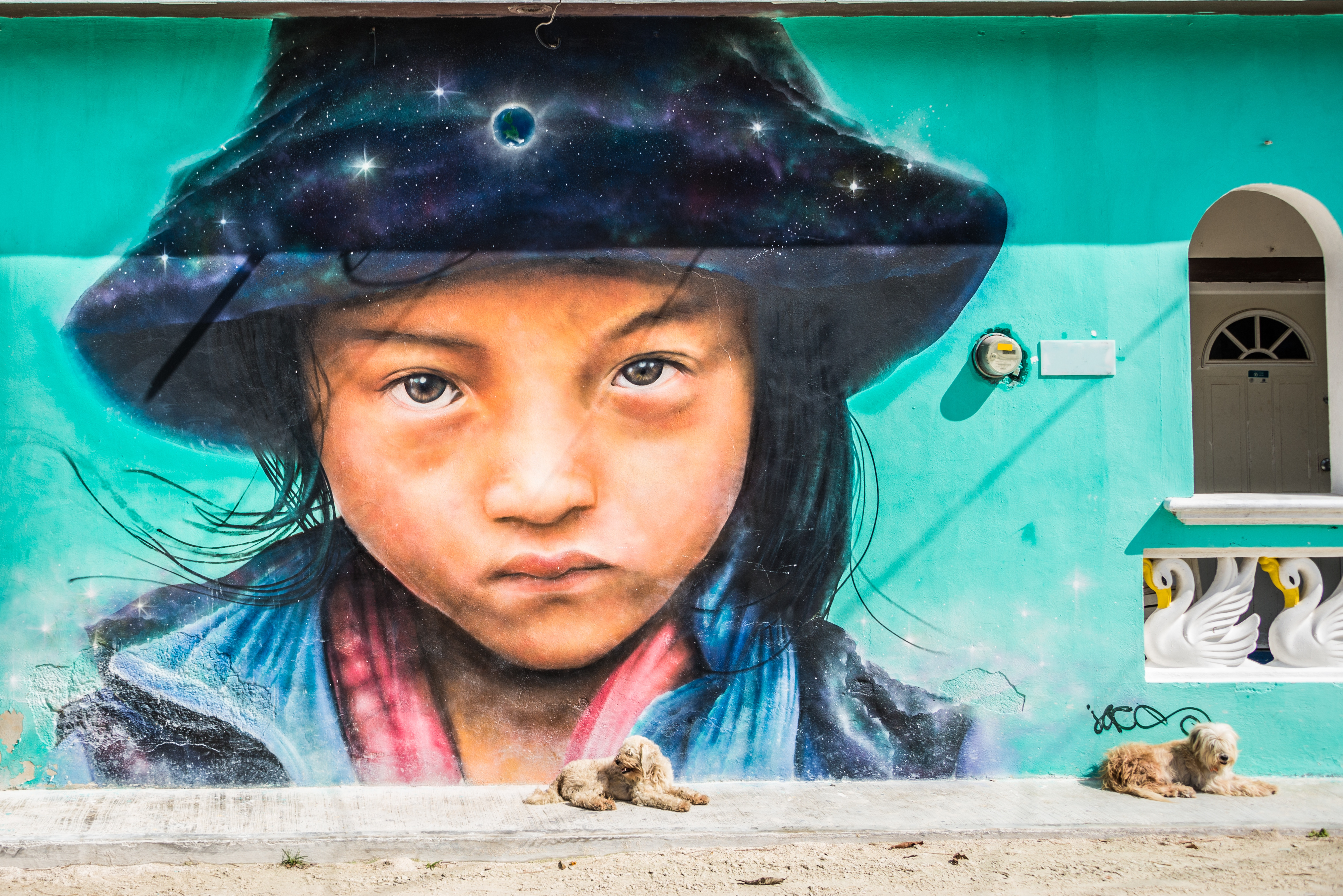 Mural of Mexican Girl
