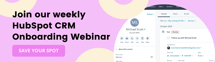 Join our Weekly HubSpot CRM Onboarding Webinar (1)