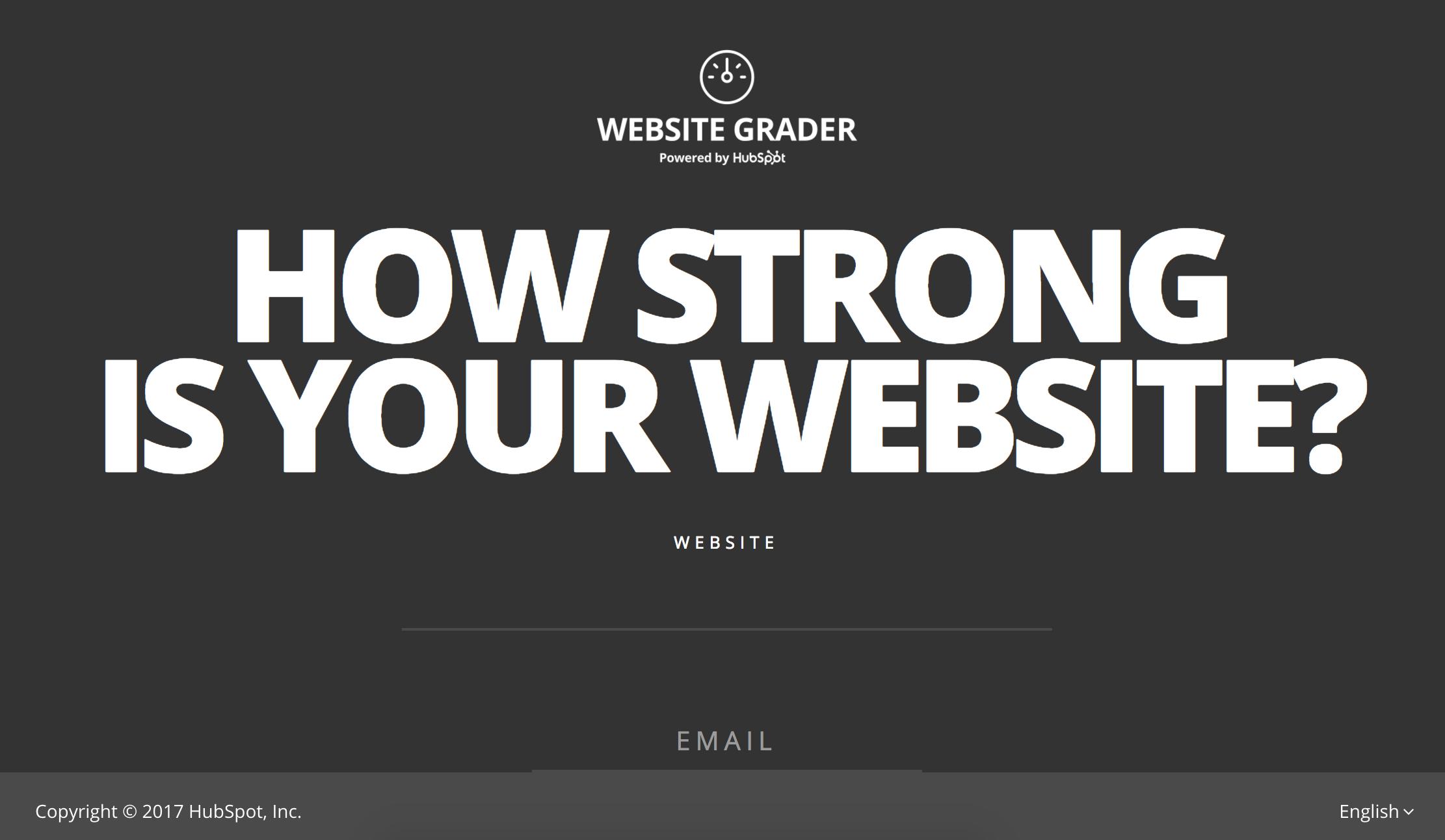 Website Grader Screenshot