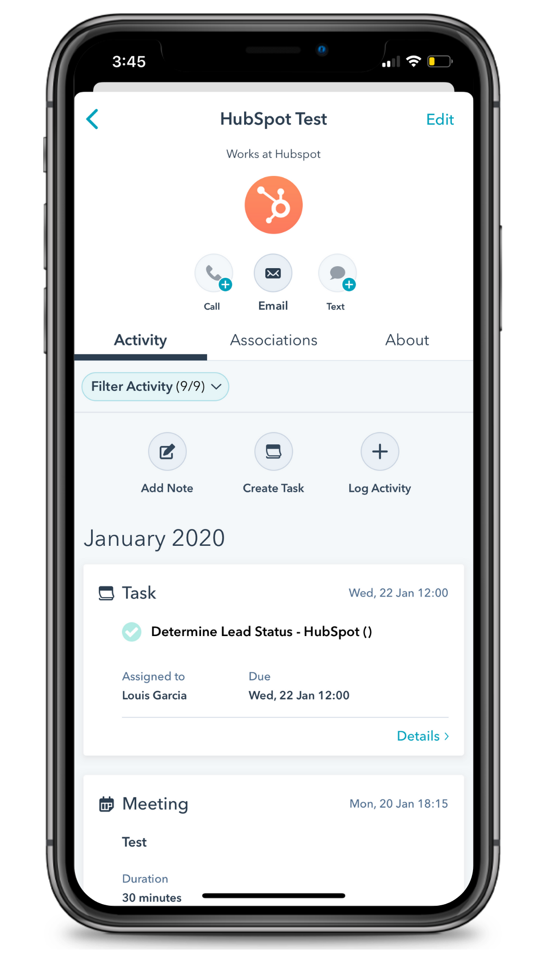 HubSpot CRM Mobile App Image